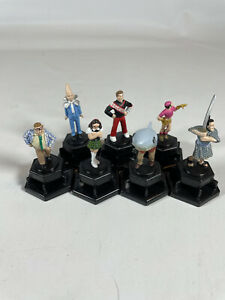 Lot of 7 Figurine Horn Abbot Trivial Pursuit Game Piece Pre-owned