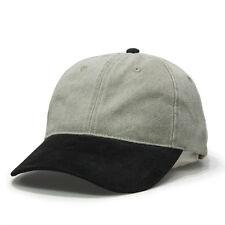 Brushed Denim with Suede Visor Adjustable Baseball Cap