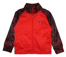 Under Armour Boys Red & Black Track Jacket Size 4