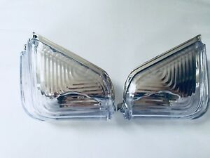 SET OF 2 fits VW CRAFTER 2006-2016 WING MIRROR DOOR COVER INDICATOR LIGHT LENS
