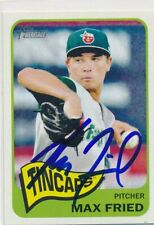 Max Fried Fort Wayne Tincaps Autographed 2014 Topps Heritage Card #18