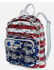 Justice American Flag Mini Backpack Flip Sequin Details July 4th Summer USA