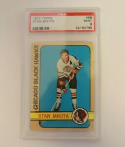 1972 Topps Hockey #56 Stan Mikita Chicago BlackHawks HOF PSA 9