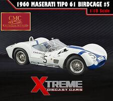CMC M-047 1:18 1960 MASERATI TIPO 61 BIRDCAGE #5 NURBURGRING WINNER GURNEY/MOSS