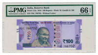 INDIA banknote 100 RUPEES 2018. PMG MS-66 EPQ