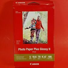 "Canon Photo Paper Plus Glossy II ,4""x6"" Inkjet Printer Paper, 100 sheets PP-301"