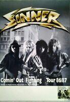 Sinner: Comin` out fighting (1986) | Konzertposter Tourplakat A1