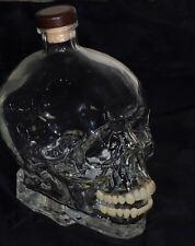 Limited Edition Crystal Head Vodka 1.75L Bottle/Decanter Lifelike Teeth Artwork