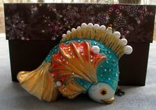 Jay Strongwater Fish Ornament Swarovski Elements New In Box