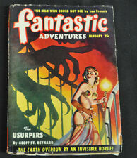 Fantastic Adventures Volume 12 #1 Vg+ The Usurpers By Geoff St. Reynard
