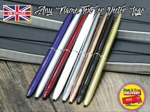 Slim metal pen perfect gift no clip father dad mom gift christmas personalised