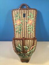 Antique Majolica Vase French Wall Pocket Vase c1800's
