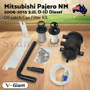 200 Oil Catch Can Filter Kit for Mitsubishi Pajero NM NX 4M41 3.2L 2006-2015 AU