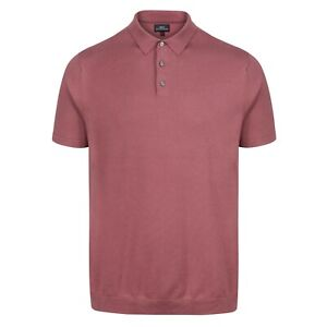 NEXT™ Mens Polo Shirt New Short Sleeve Cotton Rich Fine Knitted Collared Tee Top