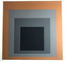 "Print after Josef Albers Screenprint Colors Grisaille and Ground 1961 10"" X10"""