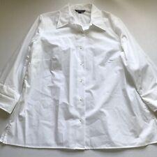 Lands End Women's White Button Up Shirt Plus Size 18W A2020