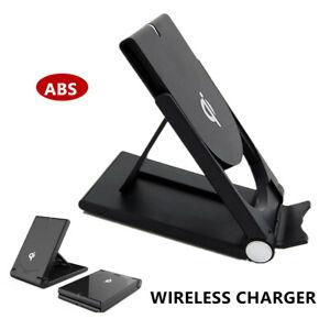 1PC Black/White Phone Wireless Charger QI Standard Folding WIreless Stand Base