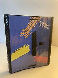 Vtg '91 Mead Blue Keepin Tabs Folio Binder Folders 3 Ring - Trapper Keeper Like