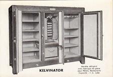 Carte postale KELVINATOR meuble réfrigéré pub