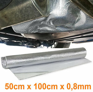 Auspuff Thermo Hitzeschutz Matte Alu Keramik selbstklebend 0,8MM 50x100cm 500°C