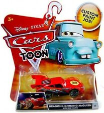 Cars Toon Main Series Dragon Lightning McQueen with Oil Stains Diecast Car #11