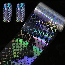 Snake Skin Holographic Nail Art Foils Sticker Transfer Nail Tips Decoration DIY
