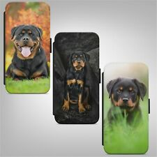 Rottweiler Puppy Dog FLIP WALLET PHONE CASE COVER FOR IPHONE SAMSUNG HUAWEI