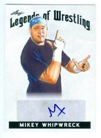 """MIKEY WHIPWRECK """"AUTOGRAPH CARD"""" LEAF LEGENDS OF WRESTLING 2018"""