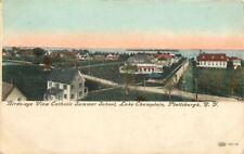 Plattsburgh New York~Catholic Summer School~Lake Champlain~1910 IPCC Postcard