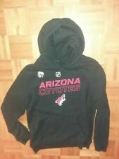 ARIZONA COYOTES Taylor Hall worn #91 pullover hooded warmup jacket from 2019-20