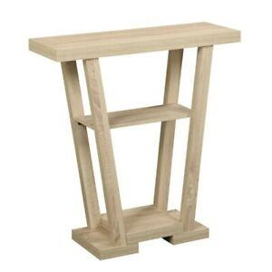 Convenience Concepts Newport V Console, Weathered White - 121399WW