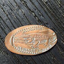Alligator Newport Aquarium Smashed pressed elongated penny P2254
