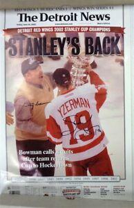 Steve Yzerman & Scotty Bowman signed Detroit Red Wings 16x24 poster BAS LOA