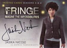 Fringe Season 3 & 4 Jasika Nicole as Astrid Farnsworth A6 Auto Card