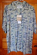 NWT Columbia button down fishing block print button down camp shirt size Medium