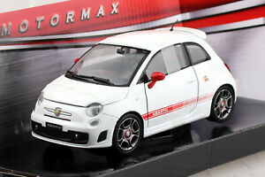 Fiat Abarth 500 weiß 1:24 Motor Max Modellauto