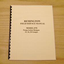 Remington Model 870 Field Service Manual - Gunsmith - Repair - #29