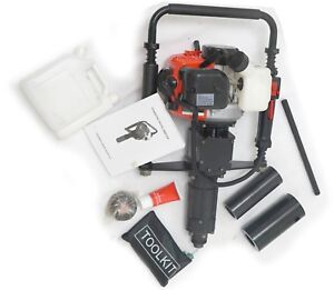 """ToolTuff Gas Powered Post Pounder & Pile Driver 33cc w/ 2.75"""" ID Head & Tool Kit"""