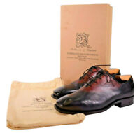 Bettanin & Venturi Wholecut Dress Shoes Size 10 In Reddish Brown to Black Fade