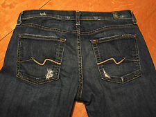 7 FOR ALL MANKIND ROXANNE SKINNY DISTRESSED JEANS 29 X 33 VERY NICE!