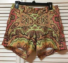 INC International Concepts Paisley Print Shorts Size 4P New Without Tags