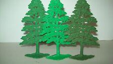 "Original vintage, three Marx soft plastic "" A "" style trees, playset accessorie"