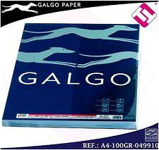 Papel galgo DIN A4 blanco paquete 100 unidades 100gr verjurado profesional 49910