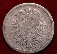 1876 Germany 50 Pfennig Silver Foreign Coin