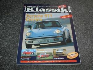 Motor Klassik Zeitschrift Heft 2/2001 Porsche 911 Carrera