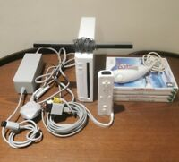 Nintendo Wii Console Bundle With Games & Accessories - Tested
