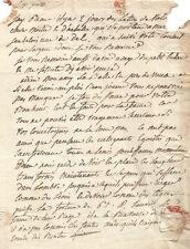 (NAPOLEON) Lettre autographe à propos du Coup d'état de Bonaparte le 18 Brumaire
