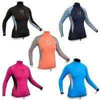 Gul Swami Womens Ladies Long Sleeve Rash Vest Guard Top UV50 Wetsuit Surf