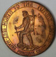 1867-1967 Alaska Purchase Centennial 100 Years BU Bronze Commemorative Medal