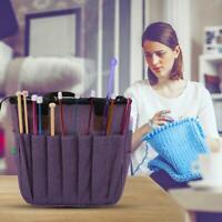 Portable Knitting Bag Yarn Tote Wool Crochet Hooks Sewing Needles Storage Bags
